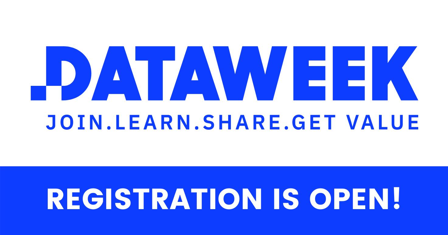 Data Week 2021 Registration is open banner